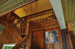 stairway at the inn