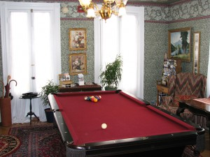 game room at the inn