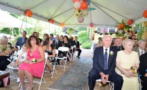 wedding under the tent